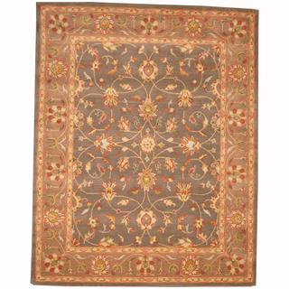 Herat Oriental Persian Indo Hand-tufted Tabriz Grey/ Brown (8' x 10')