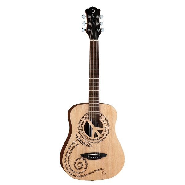 Luna Safari Peace Travel Acoustic Guitar with Gigbag