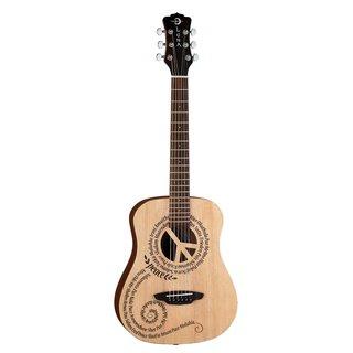 Luna Safari Peace Travel Acoustic Guitar with Gigbag