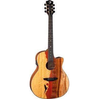Luna Vista Eagle A/E- Tropical Wood, Koa Back Acoustic/Electric Guitar