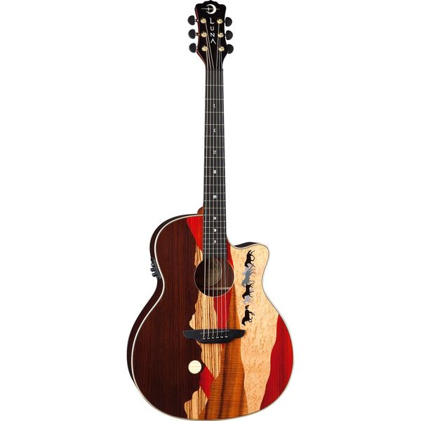 Luna Vista Mustang A/E Tropical Wood, Rosewood Back Acoustic/Electric Guitar