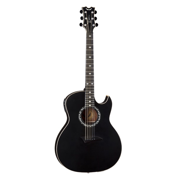 Dean Exhibition A/E with Aphex - Black Satin Acoustic/Electric Thin Body Guitar