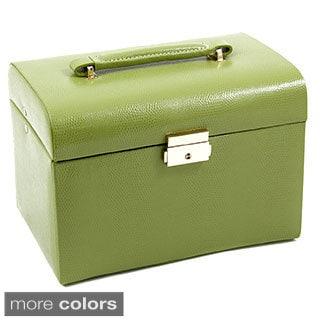 Bey Berk 'Daisy' Leather Jewelry Box