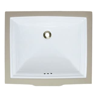 MR Direct u2450-w White Undermount Rectangular Porcelain Sink