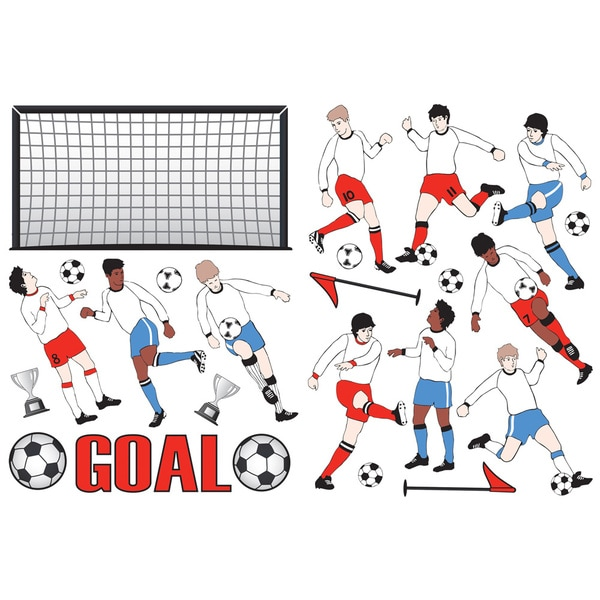 Footballers - Sports Wall Decals