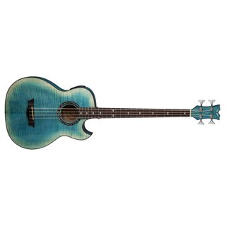 Dean Exhibition FM Bass A/E with Aphex - Faded Denim Acoustic/Electric Bass Guitar