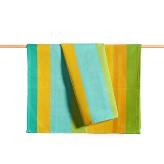 Hand-woven Tropicalia Striped Kitchen Towel (Guatemala)