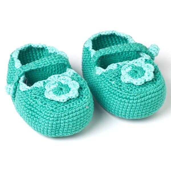 Handmade Crochet Baby Mary Janes (Guetemala)
