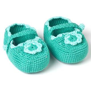 Handmade Crochet Baby Mary Jane Booties (Guetemala)