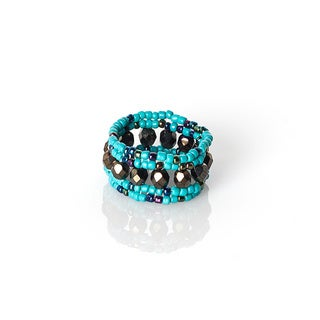 Hand-beaded Native Ring (Guatemala)