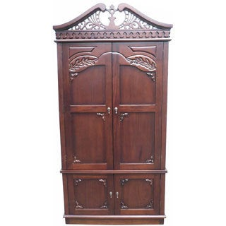 D-Art Carved Top Armoire (Indonesia)