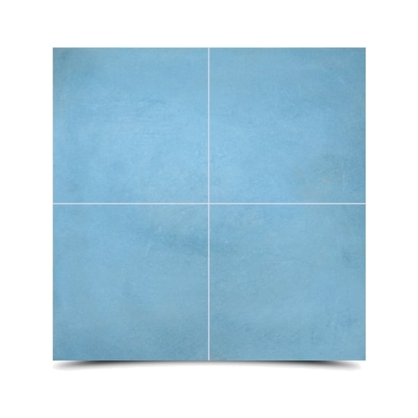 Skile Pack of 12 Handmade Blue Cement and Granite Moroccan Tile (Morocco)