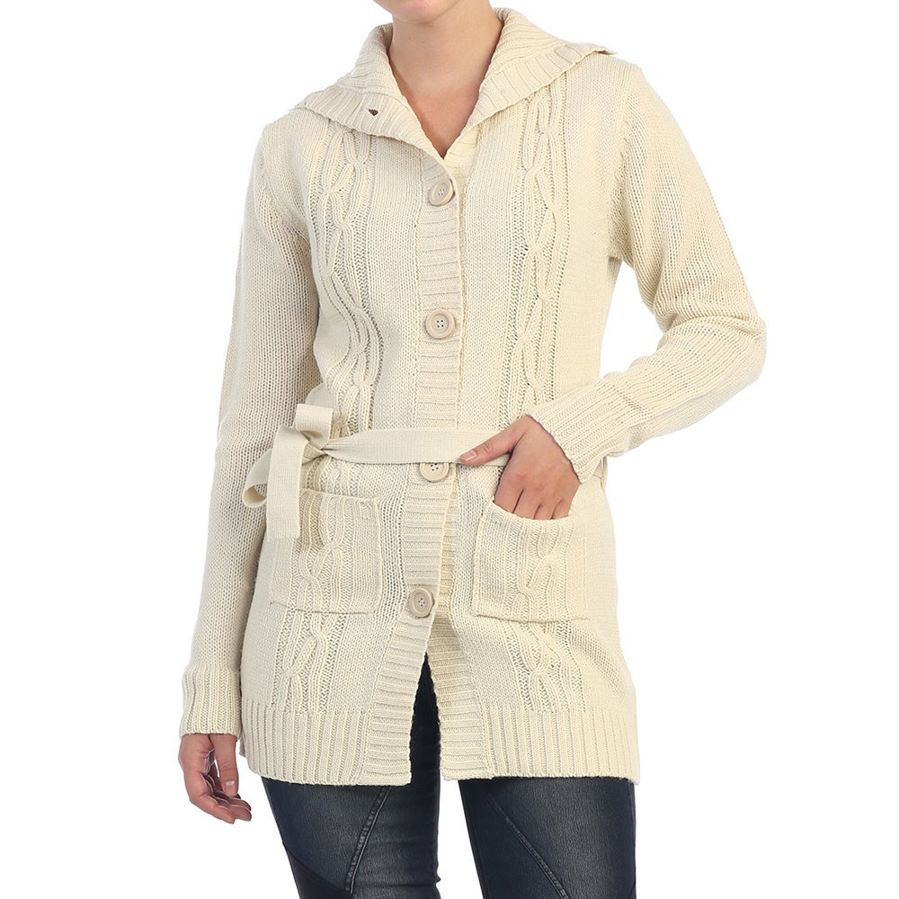 Overstock.com Hadari Women's Button-up Knitted Cardigan