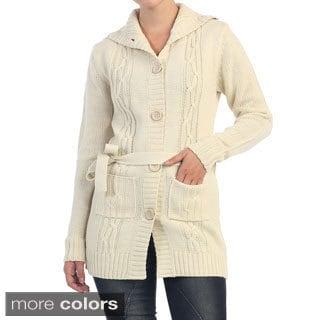 Hadari Women's Button-up Knitted Cardigan