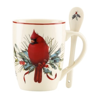 Lenox Winter Greetings 2-piece Cocoa Mug Set