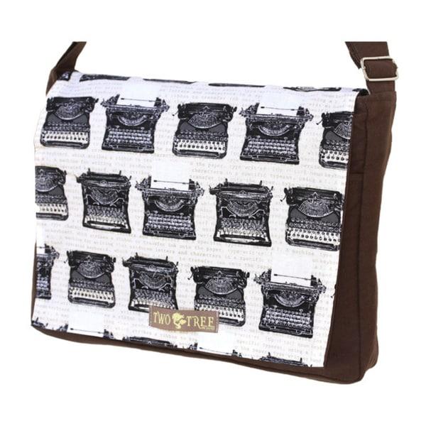 Handmade Medium Brown Vintage Typewriter Messenger Bag