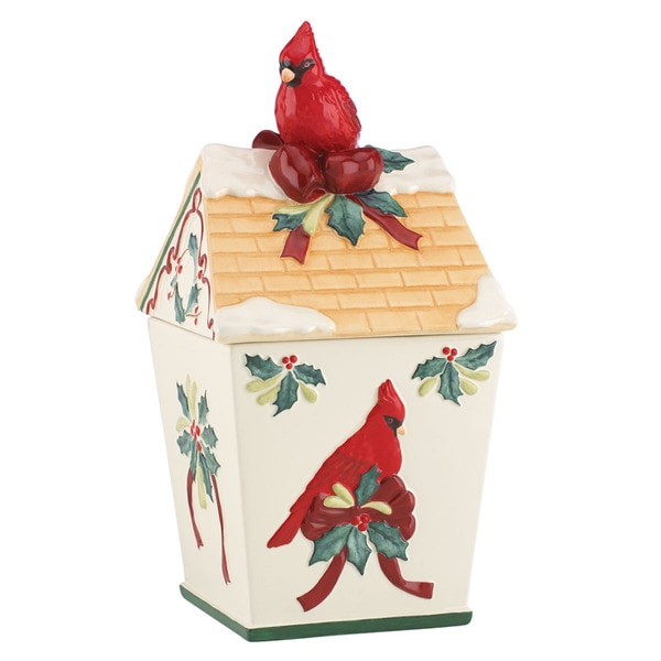 Lenox Winter Greetings Birdhouse Cookie Jar