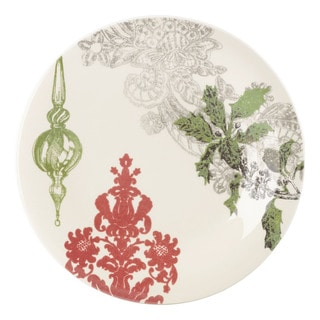 Lenox Alice Drew Vintage Jubilee Green Ornament Accent Plate