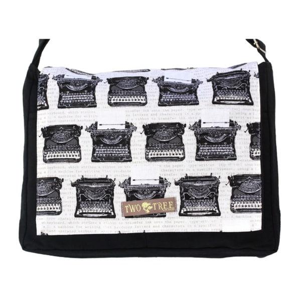 Handmade Medium Black Vintage Typewriter Messenger Bag