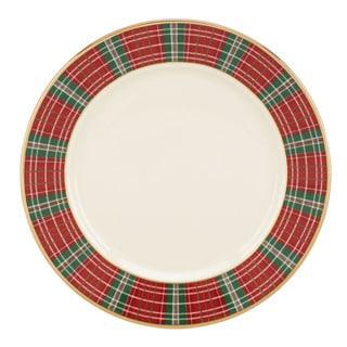 Lenox Winter Greetings Plaid Butter Plate