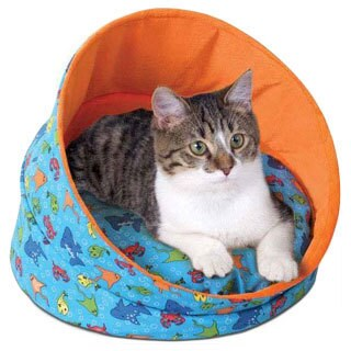 K&H Pet Products Fish Pattern Unheated Kitty Cave