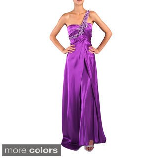 DFI Women's Jewel Embellished One-shoulder Evening Gown