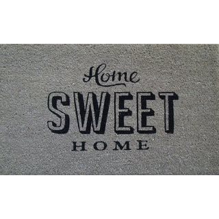 PVC Tufted Coir Home Sweet Home Design Doormat