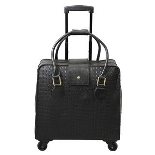 Hang Accessories Crocodile Black Spinner 15-inch Laptop Case
