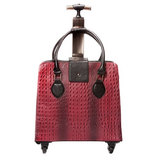 Hang Accessories Urban Ranch Crocodile Cognac Rolling 15-inch Laptop Case