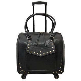 Hang Accessories Jacqueline Patent Black Rolling 15-inch Laptop Case