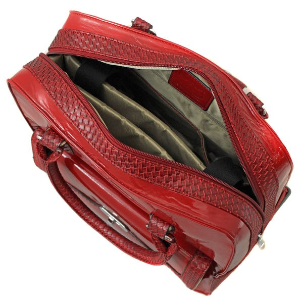 Hang Accessories Jacqueline Patent Red Spinner 13-inch Laptop Case