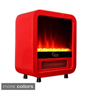 Caesar Hardware Mini Portable Electric Fireplace Freestanding Bedroom Compact Heater
