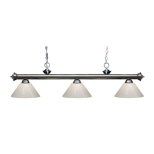 Z-lite 3-light Riviera Gun Metal White Billiard Fixture