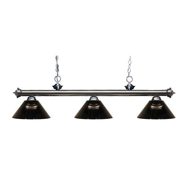 Z-Lite 3-light Riviera Gun Metal Smoke Billiard Fixture