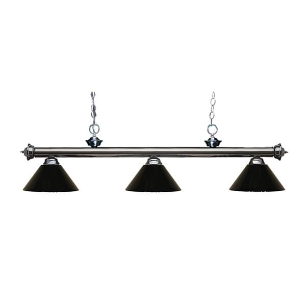 Z-lite 3-light Riviera Gun Metal Black Billiard Fixture