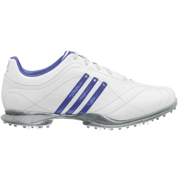 Adidas Women's Signature Natalie 2.0 White/ Violet/ Silver Golf Shoes