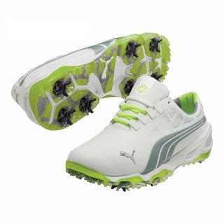 Puma Men's Biofusion White/ Grey/ Fluorescent Yellow Golf Shoes