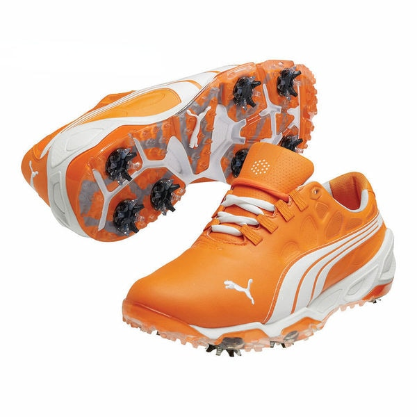 Puma Men's Biofusion Vibrant Orange/ White Golf Shoes