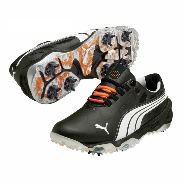 Puma Men's Biofusion Black/ White/ Silver Golf Shoes