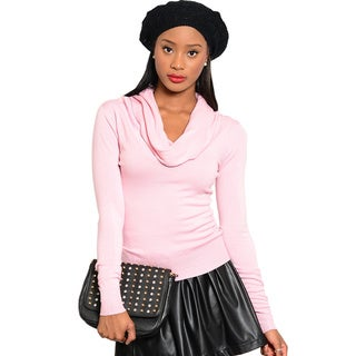 Shop The Trends Women Knit Sweater with Cowl Neckline