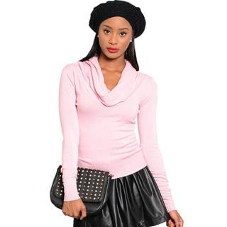 Feellib Women Knit Sweater with Cowl Neckline