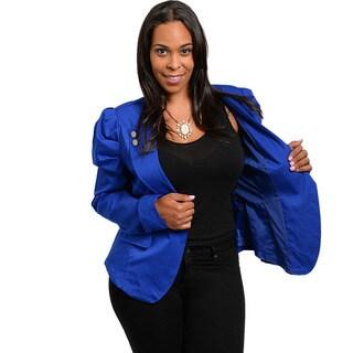 Shop The Trends Women Unique Royal Blazer