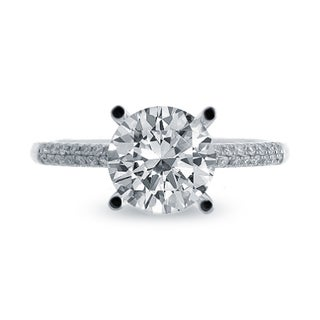 14k White Gold 1 1/6ct TDW Round Center Engagement Ring (G-H, SI1-SI2)