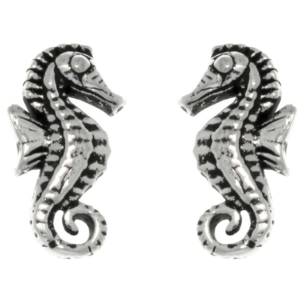 CGC Sterling Silver Baby Seahorse Stud Earrings