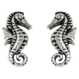 CGC Sterling Silver Baby Seahorse Stud Earrings