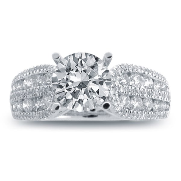14k White Gold 1 3/5ct TDW Vintage Diamond Engagement Ring (H-I, SI1-SI2)