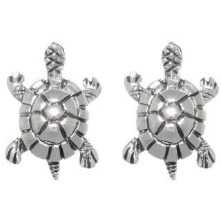 CGC Sterling Silver Lake Turtle Stud Post Earrings