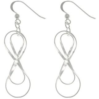 CGC Sterling Silver Double Infinity Twist Dangle Earrings