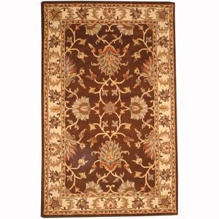 Herat Oriental Persian Indo Hand-tufted Tabriz Brown/ Beige (5' x 8')