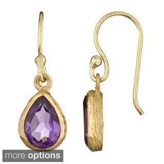 Gemstone Pear Drop Earrings